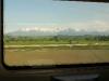 Le Alpi viste dal finestrino del treno