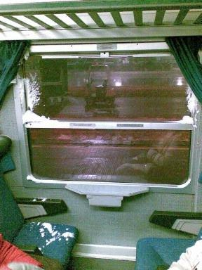 Nevica nel treno