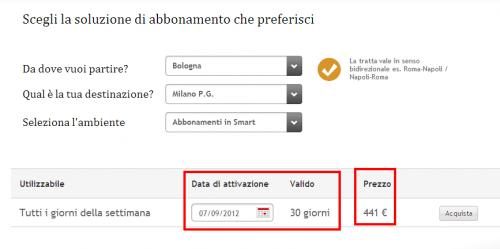 abbonamento italo online
