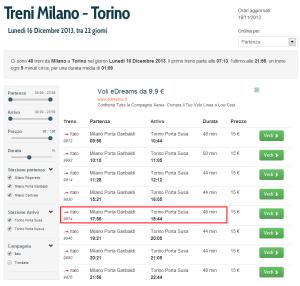 Treni Italo Milano - Torino, Lunedì 16 Dicembre 2013 - viRail - Google Chrome_2013-11-24_21-42-31