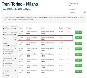 Treni Italo Torino - Milano