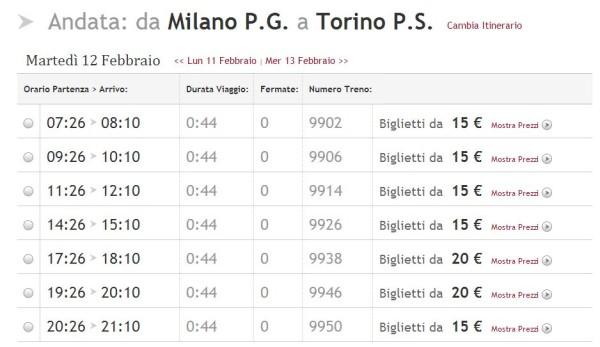 nuova versione seleziona per originale design distintivo Orari Italo Torino Milano dal 9 Dicembre 2012 - Pendolando